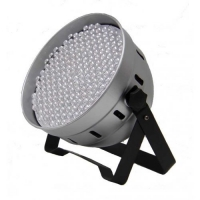 Flash LED PAR 64 186x10mm RGBW DMX ABS SILVER